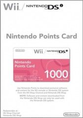 Nintendo Points Card 1000 для Nintendo Wii