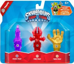 Skylanders Trap Team: Набор из трех ловушек: Magic Rocket (магия), Fire Captain's Hat (огонь), Tech Hand (технология)