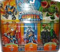 Skylanders Giants: Набор из трех фигурок: Ignitor, Chill, Rock Zook