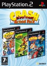 Crash Bandicoot Action Pack (Nitro Kart + Twinsanity + Tag Team Racing) (PS2)