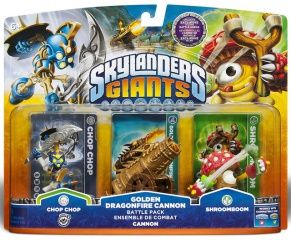 Skylanders Giants: Интерактивные фигурки Golden Dragonfire Cannon Battle Pack (Shroomboom, Cannon, Chop Chop)