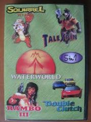 SK 5004 (5 In 1)Water World/Squirrel King/Tale Spin/Rambo 3/Double Clutch  (Sega)