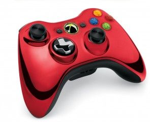 ������ �������� ������������ Wireless Controller Chrome Red (������������� �������) (Xbox 360). ����� ������ ����!