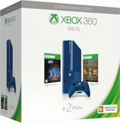 Купить Microsoft Xbox 360 Slim E 500Gb Rus Blue (Голубой) + Игра Toy Soldiers + Игра Max:The Curse of Brotherhood. Самая низкая цена!