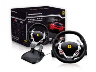 Руль с педалями Ferrari F430 Force Feedback Racing Wheel (PC)