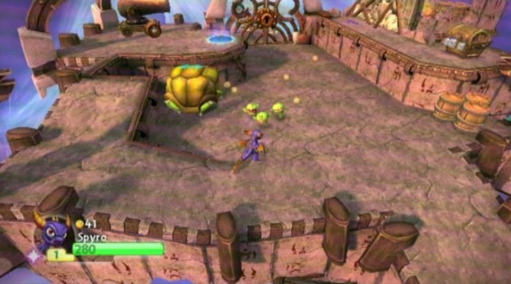 Skylanders Spyro's Adventure: Набор интерактивных фигурок Legendary Spyro, Legendary Chop Chop, Legendary Bash