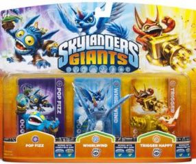 Skylanders Giants: ������������� ������� Triple Pack (Pop Fizz, Trigger Happy, Whirlwind)