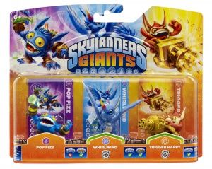 Skylanders Giants: Интерактивные фигурки Triple Pack (Pop Fizz, Trigger Happy, Rock Whirlwind)