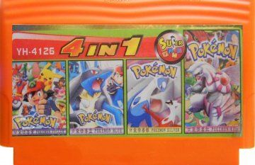 Сборник игр YH 4126 (4 in 1) Pokemon Yellow,Blue,Silver,Red (Dendy)