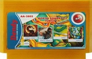 Сборник игр AA-2803 (4 IN 1) MORTAL KOMBAT 2+3+TURTLES 1+4 (Dendy)