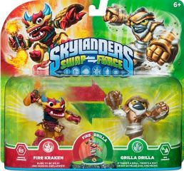 Skylanders Swap Force. Набор из двух фигурок: Fire Kraken, Grilla Drilla