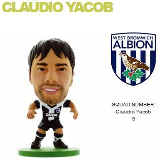 Фигурка футболиста Soccerstarz - West Brom Claudio Yacob - Home Kit (400109) Фигурки Soccerstarz