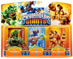 Skylanders Giants: Набор из трех фигурок: Prism Break, Lightening Rod, Drill Sergeant