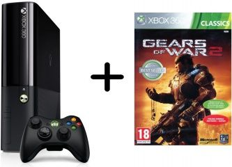 Microsoft Xbox 360 Slim E 500Gb Rus Black + Gears of War 2 для Приставки