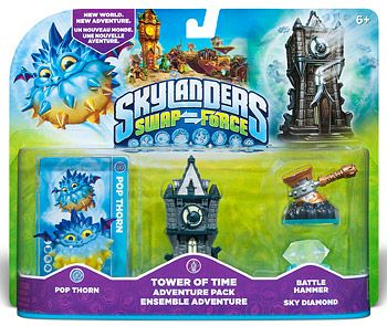 Skylanders Swap Force. Набор приключений: Pop Thorn, Tower of Time, Sky Diamond, Battle Hammer Фигурки Skylanders