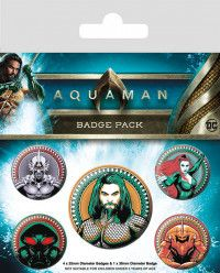 Набор значков Pyramid: Воины морей (Heavy Hitters Of The Seas) Аквамен (Aquaman) (BP80654) 5 шт
