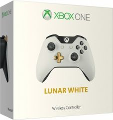 Геймпад беспроводной Microsoft Xbox One S/X Wireless Controller Lunar White (Бело-Золотой) (Xbox One)