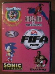 SK 5006 (5 In 1)Fifa 2002/Spider-Man/Sonic/Boxing/Tiny Toon Adventures (Sega)