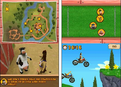 Игра Back at the Barnyard: Barnyard Games (DS) для Nintendo DS