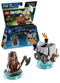 LEGO Dimensions Fun Pack - The Lord of the Ring (Gimli, Axe Chariot) Фигурки Lego Dimensions