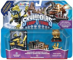Skylanders Trap Team. Набор приключений: Legendary Blades, Legendary Nightmare Express, Hande of Fate, Piggy Bank