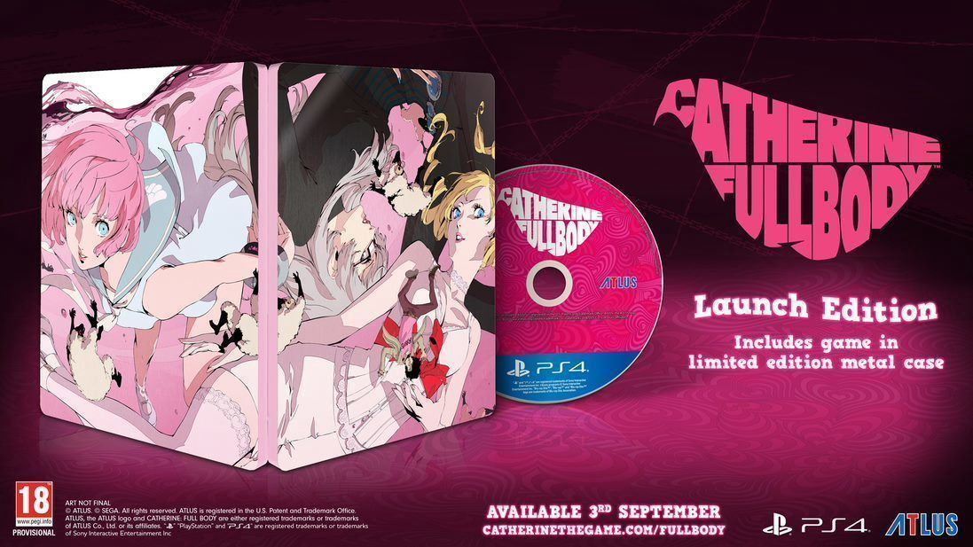 Catherine: Full Body Launch Edition Steelbook (PS4)
