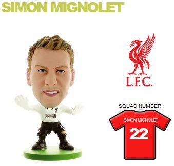 Фигурка футболиста Soccerstarz - Liverpool Simon Mignolet - Home Kit (400126) Фигурки Soccerstarz