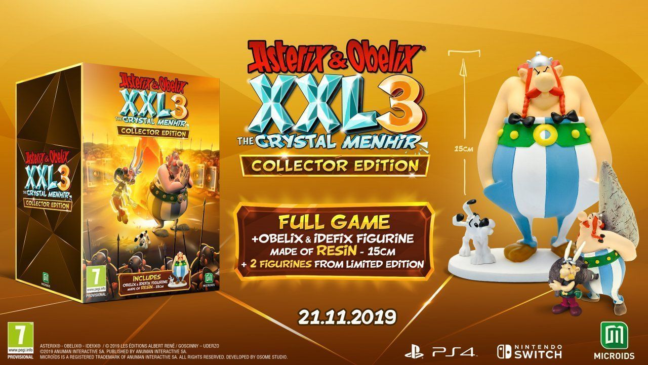 Asterix and Obelix XXL 3 The Crystal Menhir - Collectors Edition Русская Версия (Switch)