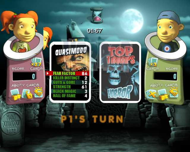 Игра Top Trumps: Horror and Predators (DS) для Nintendo DS