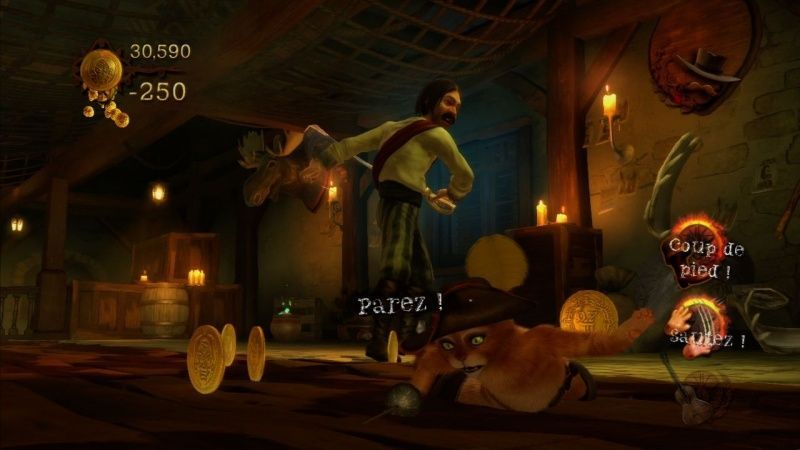 Кот в сапогах (Puss in Boots) для Kinect (Xbox 360) USED Б/У