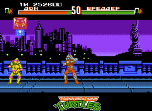 Картридж TMNT Teenage Mutant Ninja Turtles (Черепашки Ниндзя) Tournament Fighters (8 bit) для Денди
