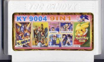 Сборник игр KY 9004 (9 in 1) X-MEN 2+ADVENTURE ISLAND 3+ALADDIN 3+... (Dendy)