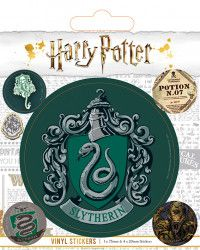 Наклейки Pyramid: Гарри Поттер (Harry Potter) Слизерин (Slytherin) (PS7391) 5 шт