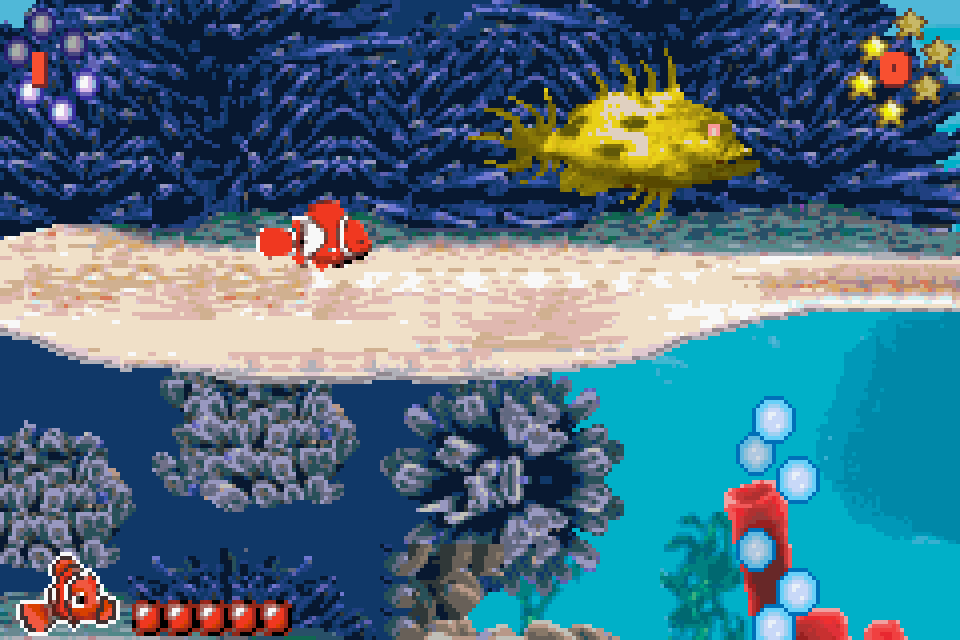 Сборник игр 4 в 1 Finding Nemo: Cont.Adv. / Garfield: Nine Lives / Ice Age / Sonic the Hedgehog (GBA) для Game boy