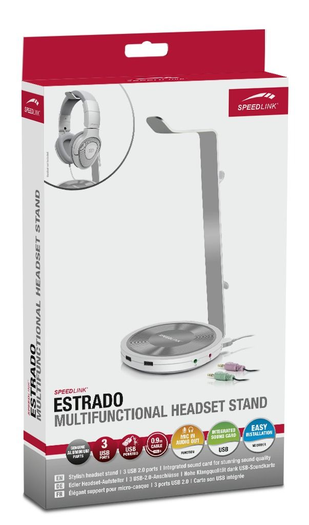 Подставка для наушников Speedlink Estrado Multifunctional Headset Stand (USB Hub) (SL-800102-WE) (PC)