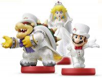 Купить Amiibo: Комплект фигурок: Боузер (Bowser Wedding Outfit) + Пич (Peach Wedding Outfit) + Марио (Mario Wedding Outfit) (Super Mario Odyssey Collection) от Nintendo