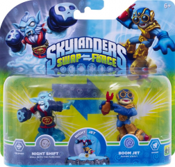 Skylanders Swap Force. Набор из двух фигурок: Night Shift, Boom Jet