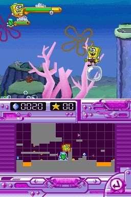 Игра SpongeBob SquarePants featuring Nicktoons: Globs of Doom (DS) для Nintendo DS