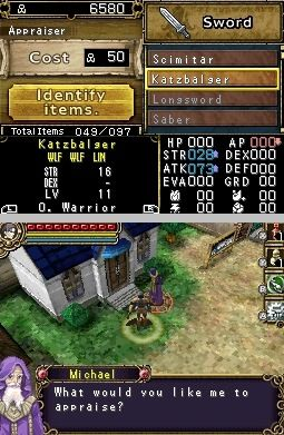 Игра Dungeon Explorer: Warriors of Ancient Arts (DS) для Nintendo DS