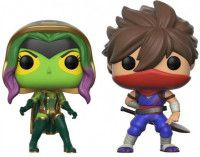Набор из двух фигурок Funko POP! Vinyl 2-Pack: Гамора против Страйдера (Gamora vs Strider) (Capcom vs. Marvel) (22776) 9,5 см
