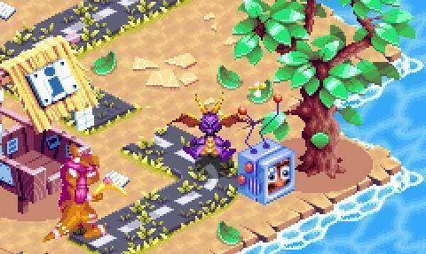 Спайро: Атака Риноков (Spyro: Attack of the Rhynocs) Русская Версия (GBA) для Game boy