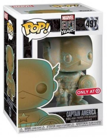 Фигурка Funko POP! Bobble: Капитан Америка (Captain America) Марвел 80 лет (Marvel 80th) (PT)(Exc) (42218) 9,5 см