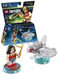 LEGO Dimensions Fun Pack - DC Comics (Womder Woman, Invisible Jet) Фигурки Lego Dimensions
