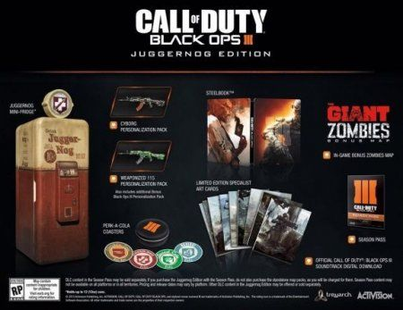 Игра Call of Duty: Black Ops 3 (III) Juggernog Edition (PS4) Playstation 4