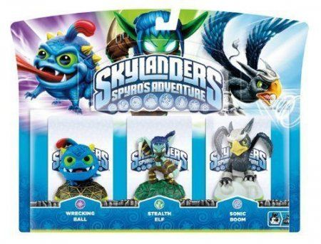 Skylanders Spyro's Adventure: Набор интерактивных фигурок Wrecking Ball, Stealth Elf, Sonic Boom