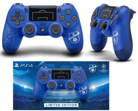 Геймпад беспроводной Sony DualShock 4 Wireless Controller (v2) (Синий) F.C. UEFA Limited Edition Оригинал (PS4)